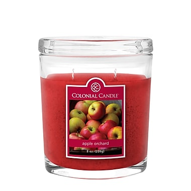 Colonial Candle 8 oz. Oval Jar, Apple Orchard, 2/Pack (CC0081135)