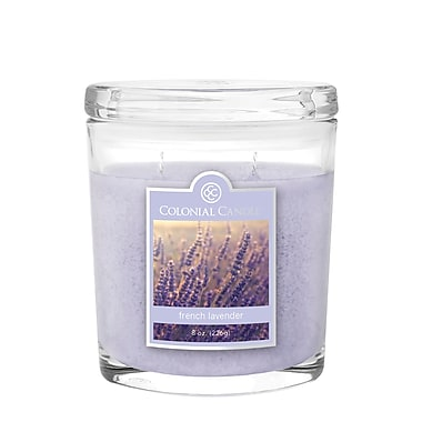 Colonial Candle 8 oz. Oval Jar, French Lavender, 2/Pack (CC0081342)