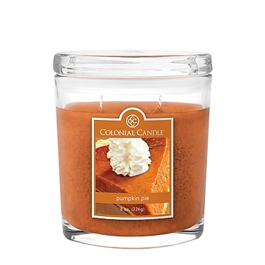 Colonial Candle 8 oz. Oval Jar, Pumpkin Pie, 2/Pack (CC0081659)