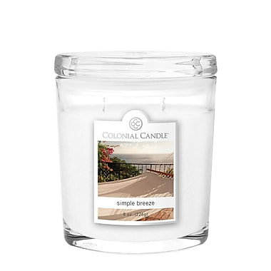 Colonial Candle 8 oz. Oval Jar, Simple Breeze, 2/Pack (CC0081896)
