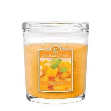 Colonial Candle – Pot ovale de 8 oz CC0082073, salsa à la mangue, paq./2