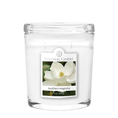Colonial Candle 8 oz. Oval Jar, Southern Magnolia, 2/Pack (CC0082179)