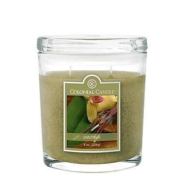 Colonial Candle – Pot de 8 oz CC0083837, patchouli, paq./4