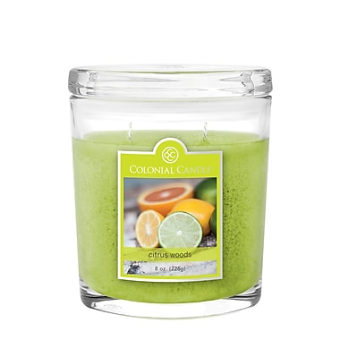 Colonial Candle – Pot de 8 oz CC0084648, bois citronné, paq./2