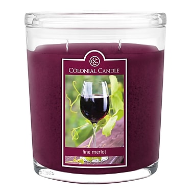 Colonial Candle 8 oz. Jar, Fine Merlot, 2/Pack (CC008584 )