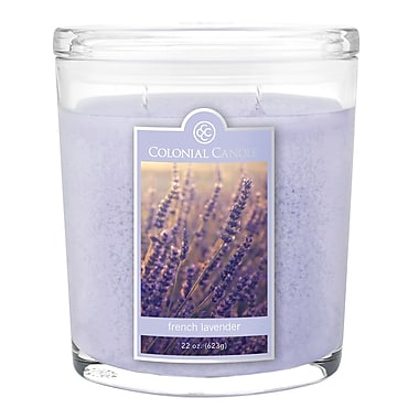Colonial Candle 22 oz. Oval Jar, French Lavender, 1/Pack (CC0221342)