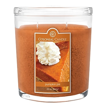 Colonial Candle CC0221659 22 oz. Oval Jar, Pumpkin Pie, 2/Pack