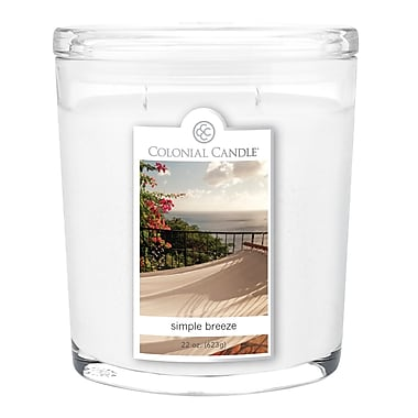 Colonial Candle 22 oz. Oval Jar, Simple Breeze, 1/Pack (CC0221896)