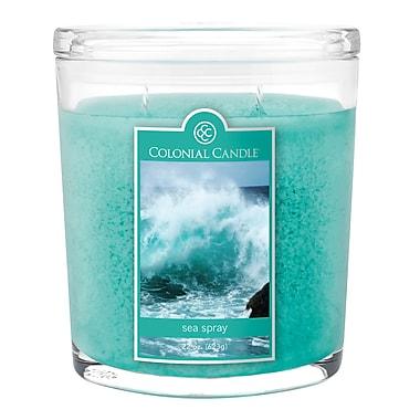 Colonial Candle – Bougie CC0221899 et pot ovale de 22 oz, poussière d'eau, paq./1