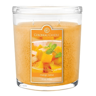 Colonial Candle 22 oz. Oval Jar, Mango Salsa, 1/Pack (CC0222073)