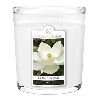 Colonial Candle 22 oz. Oval Jar, Southern Magnolia, 1/Pack (CC0222179)