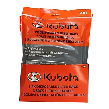 Kubota Paper Dustbag Package, 3/Pack, (55001)