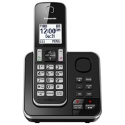 Panasonic KXTGC390B Cordless Phone with Answering Machine