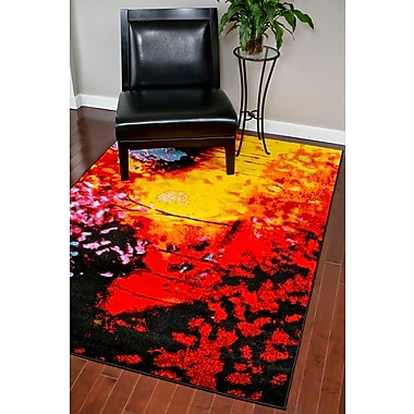 Persian-rugs Red Area Rug; Rectangle 8' x 11'