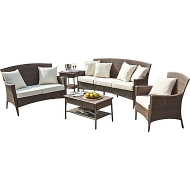Panama Jack Key Biscayne Loveseat w/ Cushions; Linen Champagne