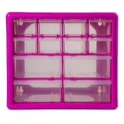The Original Pink Box 10.25'' Wide 12 Compartment Parts Organizer