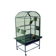 A&E Cage Co. Large Dome Top Bird Cage; Green