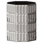 NU Steel Glitz Waste Basket; Chrome
