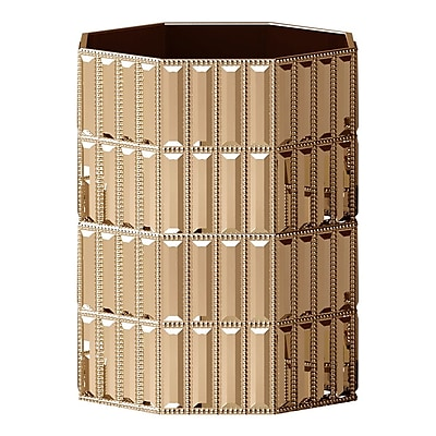 NU Steel Glitz Waste Basket; Gold