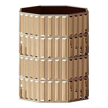 NU Steel Glitz Waste Basket; Gold