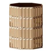 NU Steel Glitz Resin Trash Can; Gold