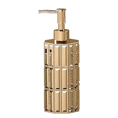 NU Steel Glitz Lotion Dispenser; Gold