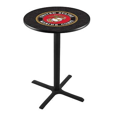 Holland Bar Stool Military 42'' Pub Table; United States Marine Corps
