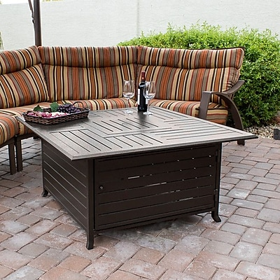 AZ Patio Heaters Stainless Steel Natural Gas Fire Pit Table