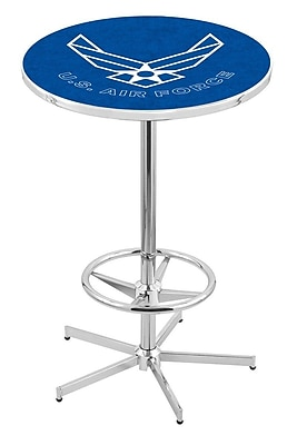 Holland Bar Stool Military Pub Table; United States Air Force