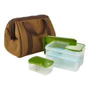 Fit & Fresh Big Phil Lunch Bag 9-Container Food Storage Set