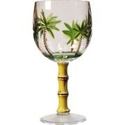 LeadingWare Group, Inc Palm Tree All-Purpose Wine Glass (Set of 4)