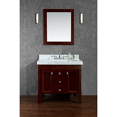 Ariel Bath Greenbrier 36'' Single Bathroom Vanity Set w/ Mirror