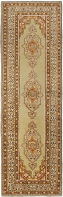 ECARPETGALLERY One-of-a-Kind Antique Anatolian Hand-Knotted Light Yellow Area Rug