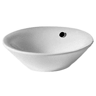 Duravit Starck 1 Ceramic Circular Vessel Bathroom Sink w/ Overflow