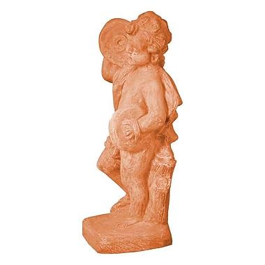 Amedeo Design ResinStone Cherub Cymbal Statue; Terra Cotta