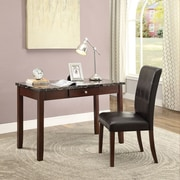 A&J Homes Studio Lorenz Writing Desk and Chair Set; Dark Brown
