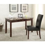 A&J Homes Studio Lorenz Writing Desk and Chair Set; Light Brown