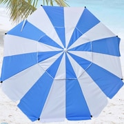 Shadezilla 8' Premium Beach Umbrella with Hanging Hook and Drink Holder