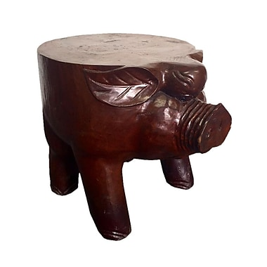 D-Art Collection Pig Accent Stool