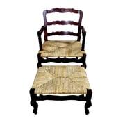 D-Art Collection French Bonne Fenn Lounge Chair and Ottoman Set
