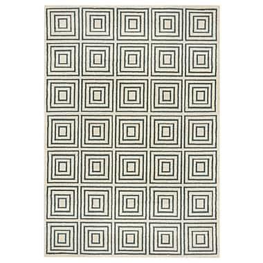 Rugnur Zahra Gray Indoor/Outdoor Area Rug; 8' x 11'