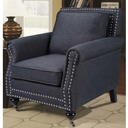 BestMasterFurniture Fabric Arm Chair; Charcoal