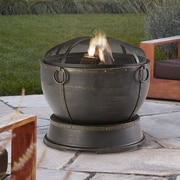 Pleasant Hearth Athena Steel Wood Burning Fire pit
