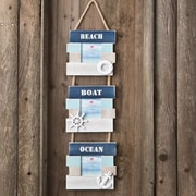 FashionCraft 3 Piece Beach Boat and Ocean Picture Frame Set
