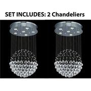 Harrison Lane Rain Drop 6-Light Crystal Chandelier (Set of 2)