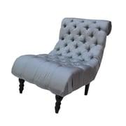 Park Avenue Buckingham Escape Slipper Chair; Light Blue