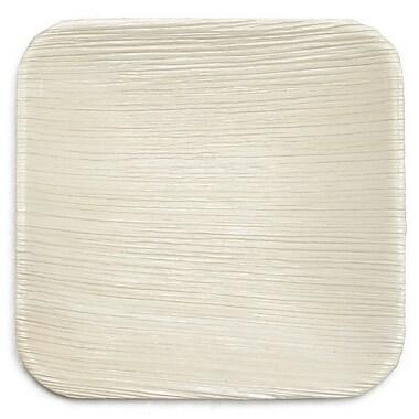 Leaf & Fiber 6'' Compostable and Sustainable Fallen Palm Leaf Appetizer Plate (Set of 25)