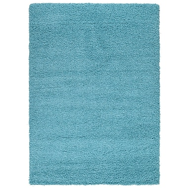 sweet home stores Cozy Turquoise Area Rug; Rectangle 3'3'' x 5'