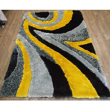 Rug Factory Plus Hand-Tufted Gray/Yellow Area Rug