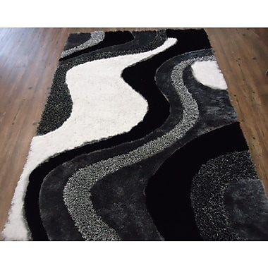 Rug Factory Plus Hand-Tufted Black/Gray Area Rug